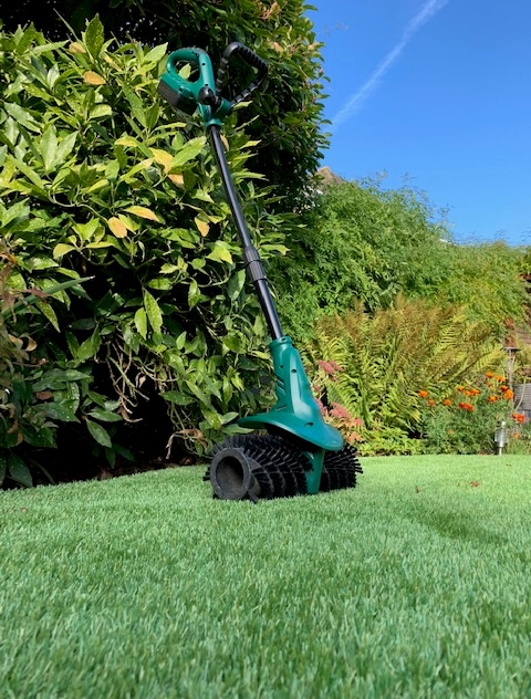 Lithium Battery Pack >> AGM 200 Cordless Power Brush Sweeper – Artificial Grass Maintenance